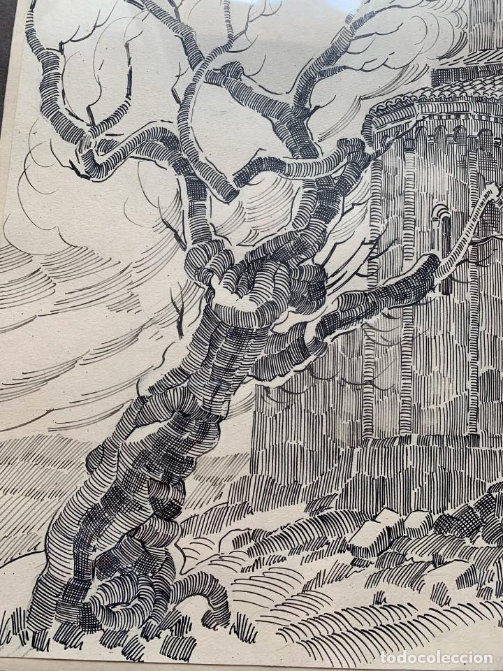 Arte: PERE MARRA * MONESTIR DE SANT CUGAT DEL VALLÉS. GENER DE 1945. FIRMADO - Foto 4 - 198063486