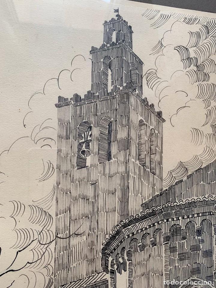 Arte: PERE MARRA * MONESTIR DE SANT CUGAT DEL VALLÉS. GENER DE 1945. FIRMADO - Foto 6 - 198063486