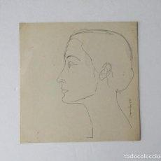 Arte: VICENS CARALTO - DIBUJO ORIGINAL FIRMADO DEL AÑO 1966 - ESTUDIO DE ARTE DEL CLUB DE RADIO BARCELONA. Lote 198156095