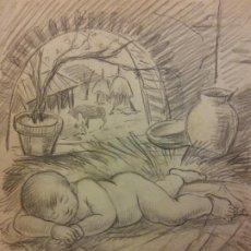 Arte: ORIGINAL. OBRA DE FRANCESC GASSÓ. NIÑO. MEDIDAS 27*21 CM. Lote 198336880