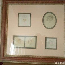 Arte: CUADRO CON DIBUJOS ANTIGUOS, SIGLO XVIII.. Lote 198553263