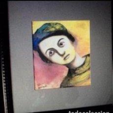 Arte: SILVINA BERENGUER RETRATO DE JOVEN , CERA DE LA GRAN AUTORA VALENCIANA. Lote 198596496