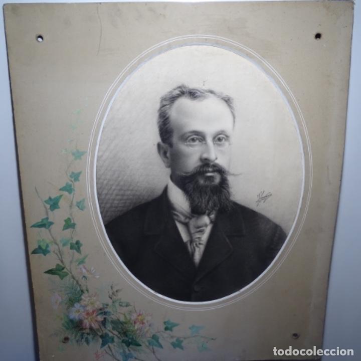Arte: Excelentes dibujos del s. Xix.retrato a carboncillo y dibujo a color.maestro. - Foto 2 - 198605177