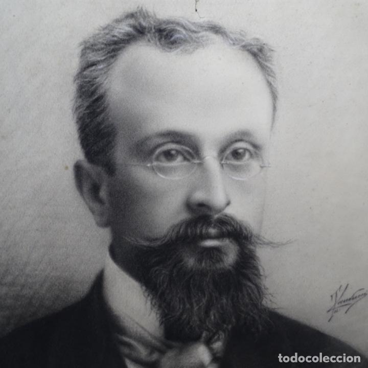 Arte: Excelentes dibujos del s. Xix.retrato a carboncillo y dibujo a color.maestro. - Foto 3 - 198605177
