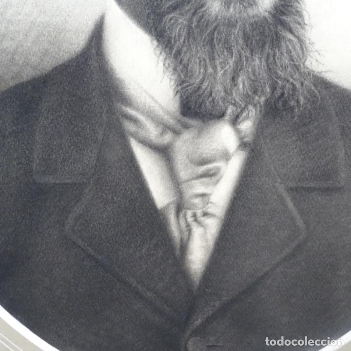 Arte: Excelentes dibujos del s. Xix.retrato a carboncillo y dibujo a color.maestro. - Foto 4 - 198605177