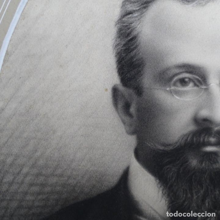 Arte: Excelentes dibujos del s. Xix.retrato a carboncillo y dibujo a color.maestro. - Foto 5 - 198605177
