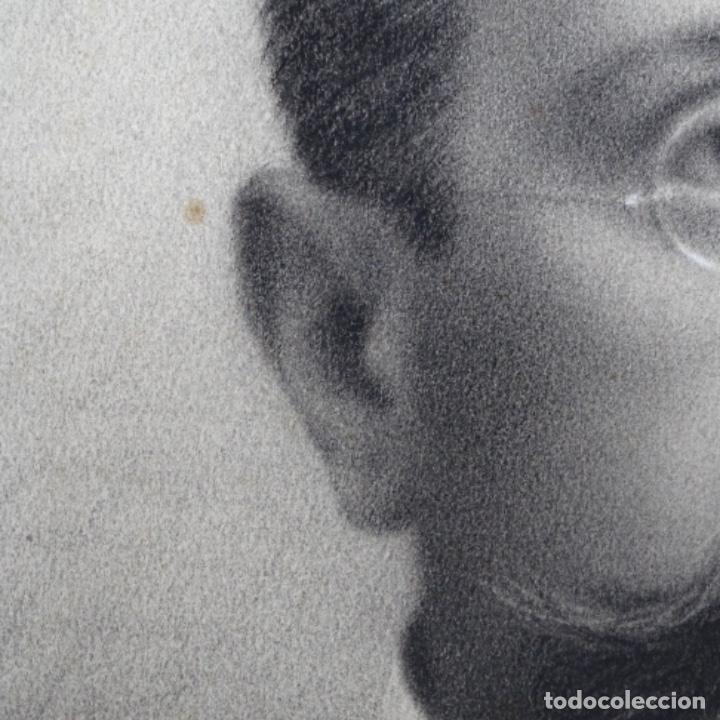 Arte: Excelentes dibujos del s. Xix.retrato a carboncillo y dibujo a color.maestro. - Foto 9 - 198605177