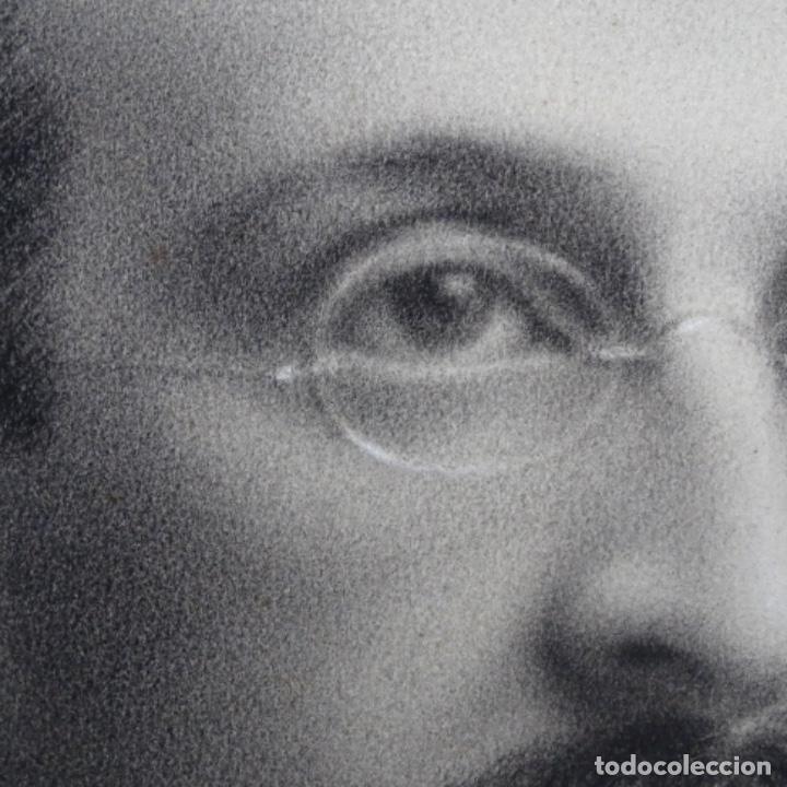 Arte: Excelentes dibujos del s. Xix.retrato a carboncillo y dibujo a color.maestro. - Foto 13 - 198605177