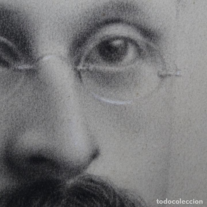 Arte: Excelentes dibujos del s. Xix.retrato a carboncillo y dibujo a color.maestro. - Foto 14 - 198605177