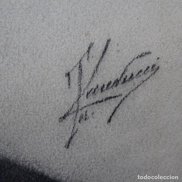 Arte: Excelentes dibujos del s. Xix.retrato a carboncillo y dibujo a color.maestro. - Foto 22 - 198605177