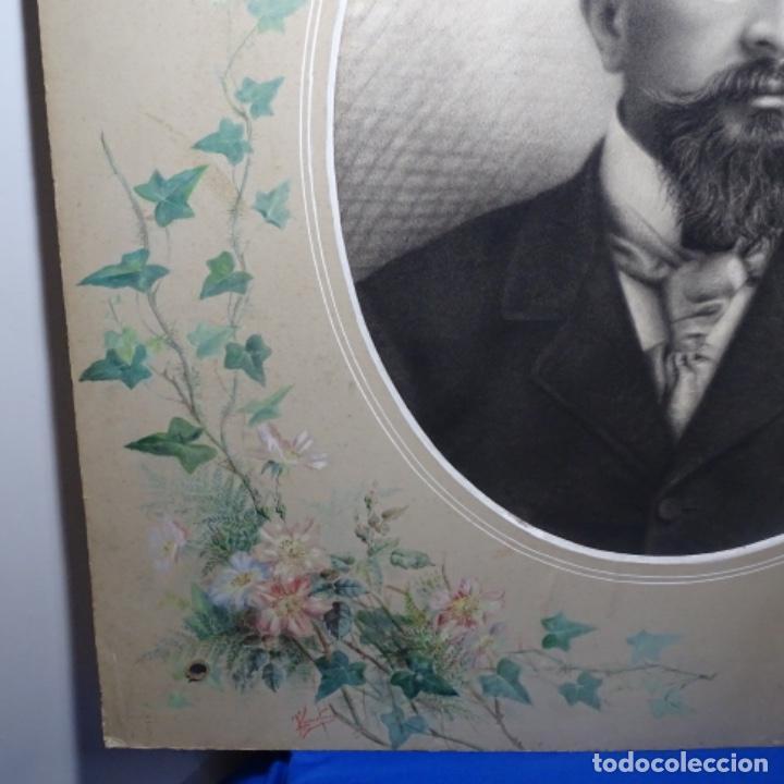 Arte: Excelentes dibujos del s. Xix.retrato a carboncillo y dibujo a color.maestro. - Foto 23 - 198605177