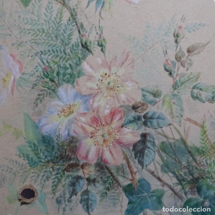 Arte: Excelentes dibujos del s. Xix.retrato a carboncillo y dibujo a color.maestro. - Foto 24 - 198605177
