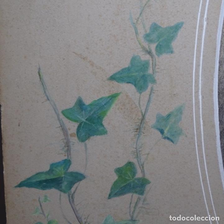 Arte: Excelentes dibujos del s. Xix.retrato a carboncillo y dibujo a color.maestro. - Foto 26 - 198605177