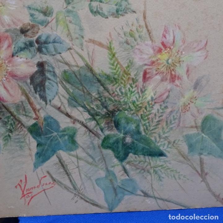 Arte: Excelentes dibujos del s. Xix.retrato a carboncillo y dibujo a color.maestro. - Foto 28 - 198605177