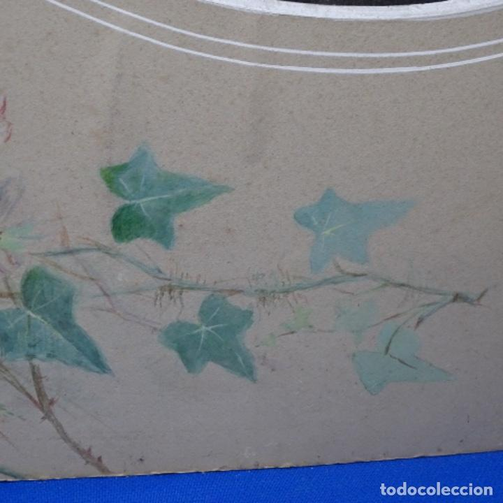 Arte: Excelentes dibujos del s. Xix.retrato a carboncillo y dibujo a color.maestro. - Foto 29 - 198605177