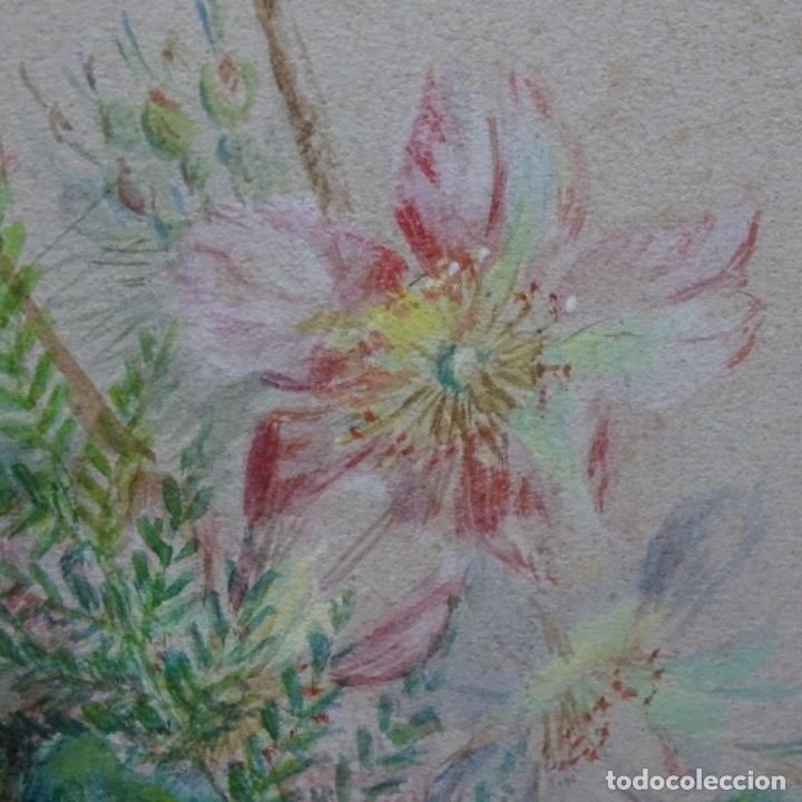 Arte: Excelentes dibujos del s. Xix.retrato a carboncillo y dibujo a color.maestro. - Foto 30 - 198605177