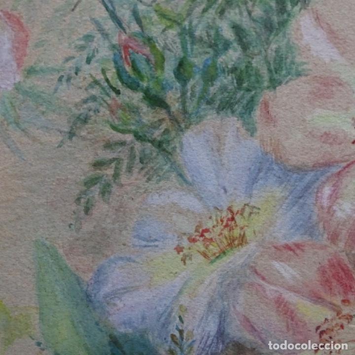Arte: Excelentes dibujos del s. Xix.retrato a carboncillo y dibujo a color.maestro. - Foto 33 - 198605177