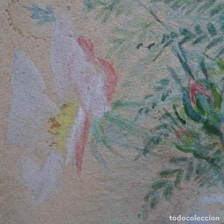 Arte: Excelentes dibujos del s. Xix.retrato a carboncillo y dibujo a color.maestro. - Foto 34 - 198605177