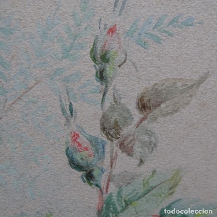 Arte: Excelentes dibujos del s. Xix.retrato a carboncillo y dibujo a color.maestro. - Foto 35 - 198605177