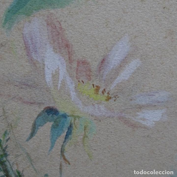 Arte: Excelentes dibujos del s. Xix.retrato a carboncillo y dibujo a color.maestro. - Foto 36 - 198605177