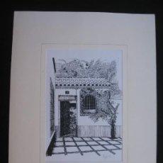 Arte: DIBUJO DE NUÑO 93 LA ENTRADA DE LA CASA. Lote 198646013
