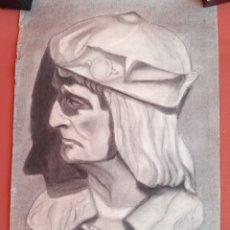 Arte: DIBUJO ACADÉMICO ANTIGUO DE 1932-1933 FIRMADO Y DATADO. Lote 198758526