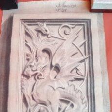 Arte: DIBUJO ACADÉMICO ANTIGUO DE 1932-1933 FIRMADO Y DATADO. Lote 198758860