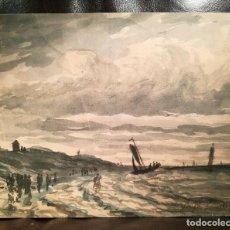 Arte: PRECIOSA MARINA POR JOHAN JONGKIND (1819-91). Lote 198790957