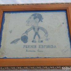 Arte: CARICATURA DEL TORERO FERMÍN ESPINOSA, ARMILLITA CHICO. GARCÍA DÍAZ PEDRO. Lote 198917927