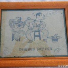 Arte: CARICATURA DEL TORERO DOMINGO ORTEGA. GARCÍA DÍAZ PEDRO. Lote 198918061