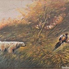 Arte: ESPECTACULAR DIBUJO A PASTEL. CAZA. FIRMA ILEGIBLE. Lote 199049430