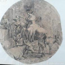 Arte: PLUMILLA DE SIGLO XVII-XVIII ,MANO MAESTRA. Lote 199208743