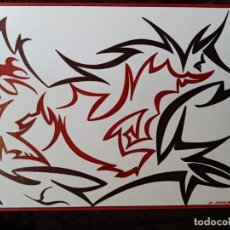 Arte: DIBUJO (ABSTRACCION). *TORO*.(BOLIGRAFO). D. NAVASCUES.. Lote 199221461