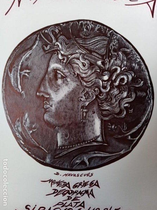 Arte: DIBUJO HIPERREALISTA.MONEDA GRIEGA: DECADRACMA DE PLATA-SIRACUSA(412-345 a.C.).(TM). DE D. NAVASCUÉS - Foto 2 - 199224092