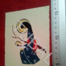 Arte: TUBAL DIBUJO ORIGINAL FELICITACION NAVIDAD B68. Lote 199649683