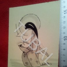 Arte: TUBAL DIBUJO ORIGINAL FIRMADO JUANITA FELICITACION NAVIDAD B68. Lote 199650203