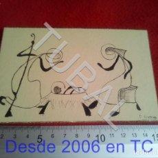 Arte: TUBAL DIBUJO ORIGINAL FIRMADO LORENZO FELICITACION NAVIDAD B68. Lote 199650402