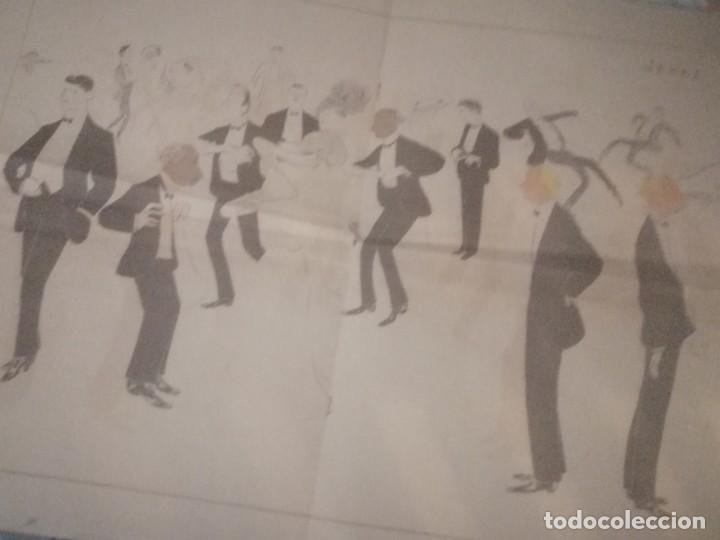 CARTEL LIBRETO A TRES CARAS SIUL UNA JOYA SIMBOLIZAMDO LA ARISTOCRACIA GAITANA JEREZANA Y SEVILLANA (Arte - Dibujos - Antiguos hasta el siglo XVIII)