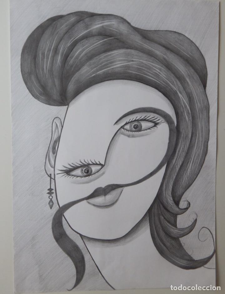 Arte: DIEGO NOA SUEIRO . ROSTRO DE MUJER . Artista cubano ( dibujo - Arte - Lapiz - cuadro) - Foto 2 - 199718768