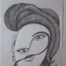 Arte: DIEGO NOA SUEIRO . ROSTRO DE MUJER . ARTISTA CUBANO ( DIBUJO - ARTE - LAPIZ - CUADRO). Lote 199718768