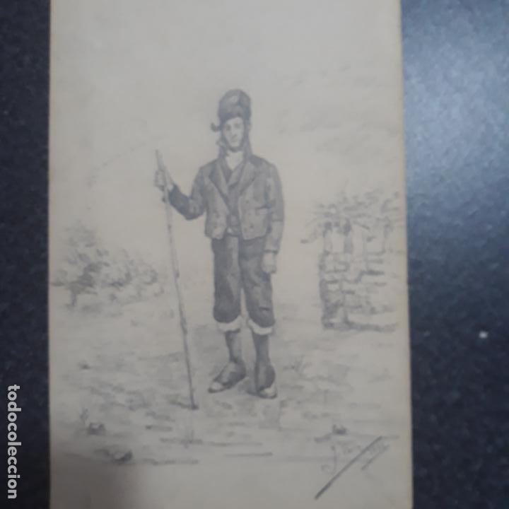 Arte: pareja de dibujos antiguos firmados 1881,j.serra zaragoza,cataluña? - Foto 2 - 199729118