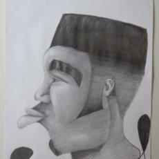 Arte: DIEGO NOA SUEIRO . ROSTRO AFROCUBANO. ARTISTA CUBANO ( DIBUJO - ARTE - PINTURA - CUADRO). Lote 199732531