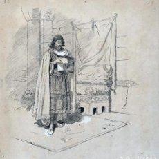 Art: JOSÉ LUIS PELLICER (1842-1901) ILUSTRACIÓN PARA LA LEYENDA DEL CID. Lote 199806287