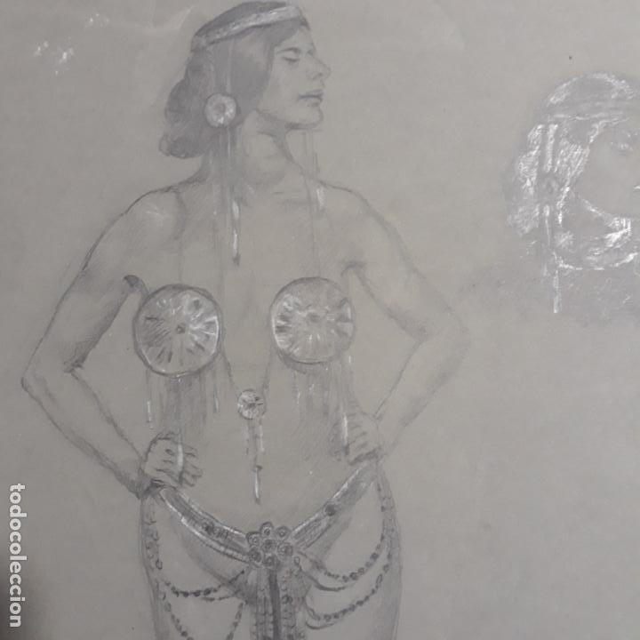 Arte: dibujo modernista de principios del xx - Foto 2 - 199867780