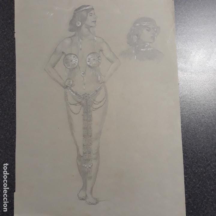 DIBUJO MODERNISTA DE PRINCIPIOS DEL XX (Arte - Dibujos - Modernos siglo XIX)