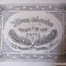 Arte: ALBUM CALIGRAFICO 1882. 74 PAGINAS SIN ENCUADERNAR. POR BALBINA MONER QUINTANA. Lote 199899066