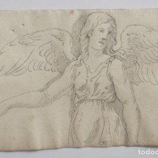 Arte: MARAVILLOSO DIBUJO ORIGINAL DEL SIGLO XVII, OLD MASTER DRAWING, ESCUELA BOLOÑESA SEGUIDOR GUIDO RENI. Lote 199957578