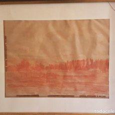 Arte: PAISAJE , SANGUINA SOBRE PAPEL ,FIRMADO PALENCIA 1955. 31 X 42 CM. ATRIBUIDO A BENJAMIN PALENCIA. Lote 199970542