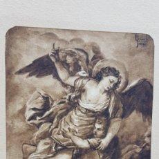 Arte: DIBUJO FIRMADO Y FECHADO. Lote 200007893