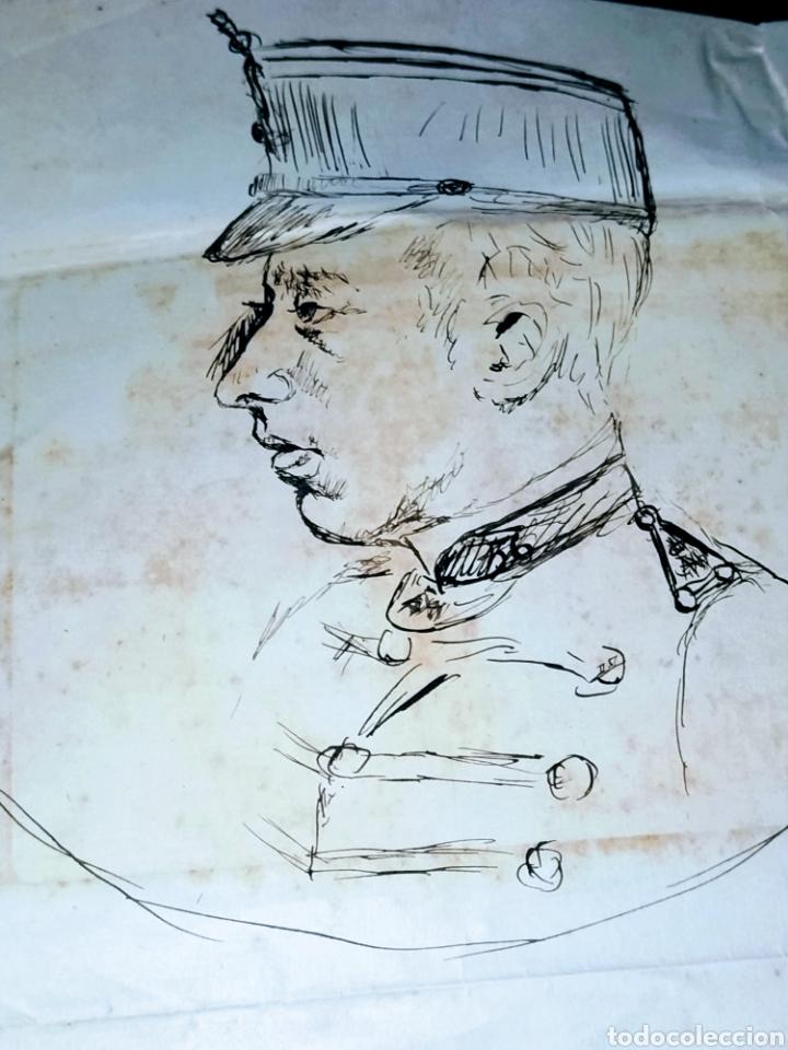 Arte: Retrato a plumilla sobre papel de Rafael Rocafull y Monfort.1825. - Foto 2 - 200174677